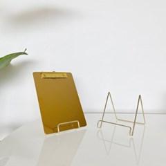 골드 와이어프레임 메뉴판 거치대 받침대 클립보드 A type