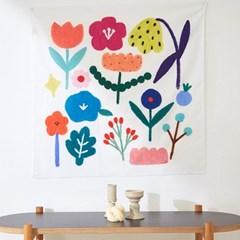 일상그림 패브릭 포스터 '꽃'