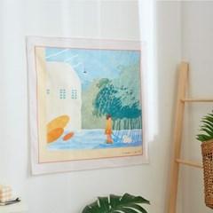 일상그림 패브릭 포스터 '나무 그늘'