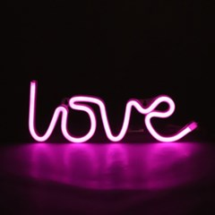 LED LOVE 레터링 네온 무드등 인테리어 조명_(1614593)