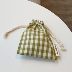 check string pouch #그린티라떼
