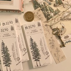 냥냥빔 vintage ticket memopad - tree (3종)