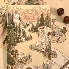 냥냥빔 지도003 엽서