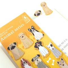 동물인덱스 버전2(점착메모지)-강아지,고양이,펭귄