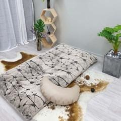 포근 순면 / 극세사 대형 빈백 침대 소파