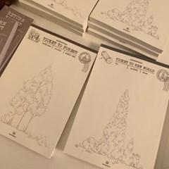 냥냥빔 Tree stamp memopad (2종)