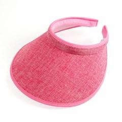 모노 와이드 썬캡(핑크) (여성용)