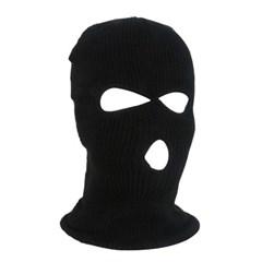 그리드 니트 복면(블랙)/겨울 방한용품 안면마스크