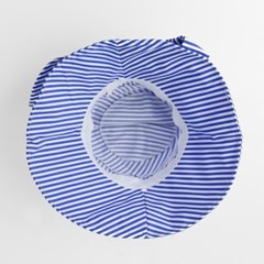 렌시 스트라이프 패션 모자(블루)