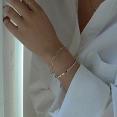 [센수] silver 925 체인 데일리 얇은 은팔찌