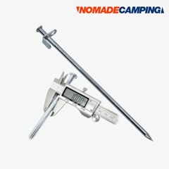 노마드 크롬도금 단조팩 20cm/N-5251/그늘막/타프/텐트/고정/팩/스틸