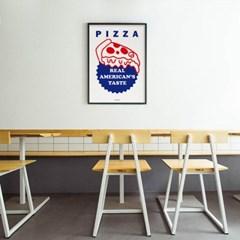 미국맛2 피자 M 유니크 인테리어 디자인 포스터 식당