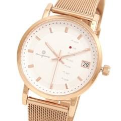[Timepieces] 요일변경 로즈골드 남녀공용 메쉬시계 OTC320814TPP