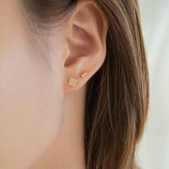 14k gf mini square earrings (14k 골드필드)