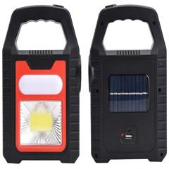 Solar 태양광 자동 충전 COB LED 캠핑등 후레쉬 랜턴