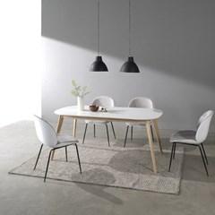 [폴앤코코] 베일리 1800 라운드 식탁 테이블 화이트_(1069600)