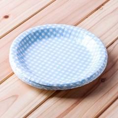 10p 롯데 칼라종이접시(블루) (23cm)