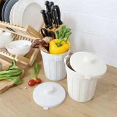 싱글라이프 냉동보관 밀폐형 미니 음식물 쓰레기통 1L_(1241080)