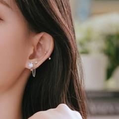 [착한소비][천연문스톤] 러블리캣 투핀 귀걸이/목걸이 SET