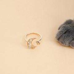[착한소비][천연문스톤] 별따는 고양이 귀걸이/목걸이/반지/팔찌 SET