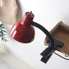 레드 레트로 크랩 램프(집게등)