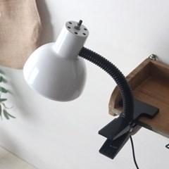 화이트 레트로 크랩 램프(집게등)