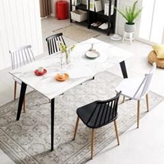 인더밴블랙 1200 식탁 테이블 대리석식탁 4인용식탁_(3123864)