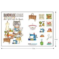 페르시안 고양이 루미의 취미생활 (DIY패브릭 45X65cm)