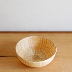 대나무 원형 굽 바구니 22cm