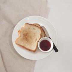 프리첸 투톤 멜라민 원형접시 디저트 샌드위치 샐러드 스테이크