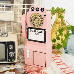 레트로 데코 소품 퍼블릭 전화기 2color