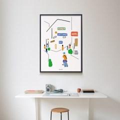떠나고 싶다4 여행 M 유니크 인테리어 디자인 포스터 휴가