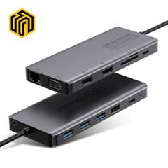 웨이코스 씽크웨이 CORE D84 듀얼HDMI 13in1멀티포트 허브