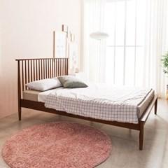 KUF 비본 원목 침대, 메모리폼 롤팩 매트리스 25cm SS_(2014367)