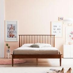 KUF 비본 원목 침대, 메모리폼 롤팩 매트리스 20cm Q_(2014364)