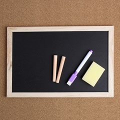 원목 칠판 겸용 화이트 보드(30x20cm)