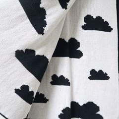 구름 니트 양면 블랑캣 90x110cm