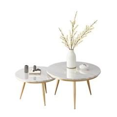 트윈 대리석 좌실원형 세라믹 거실 소파 테이블_(242621)