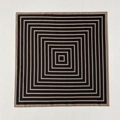 Twill Stripe Square Scarf