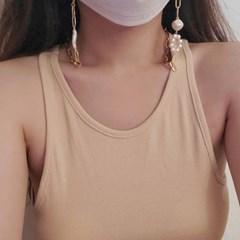 담수 진주 마스크 스트랩 목걸이 고리 줄