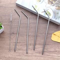 키친트리 커브형 스텐 빨대 5종 세트(25.5x0.5cm)