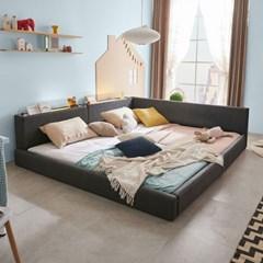 엘리스 LED패밀리 패브릭가죽 침대세트 B형2.8m (독립스프링) AD28R