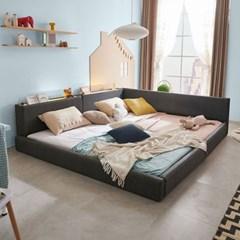 엘리스 LED패밀리 패브릭가죽 침대세트 A형2.8m (본넬스프링) AD23R