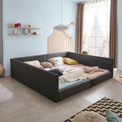 엘리스 패밀리 패브릭가죽 침대세트 B형2.4m (독립스프링) AD16R