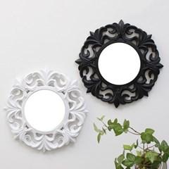 2TYPE 미니 원형 거울- 블랙,화이트