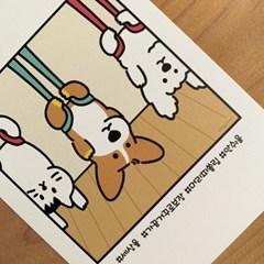 플라잉 요가 코기 Postcard