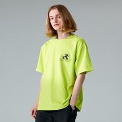 니어러스 반팔티 여성 남성 오버핏 진 핑크 티셔츠