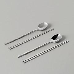 탁가온 수저세트 1벌/6벌 유광/무광 2types