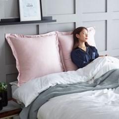 에일린 샴 라인 침대 등받이 쿠션 대형 70x70