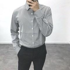 가을 남성 TR소재 무지 기본 세미캐주얼 정장 솔리드 셔츠